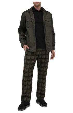 Мужские текстильные сабо RBRSL черного цвета, арт. 7Z2296U.Y40TZ0T519   Фото 2