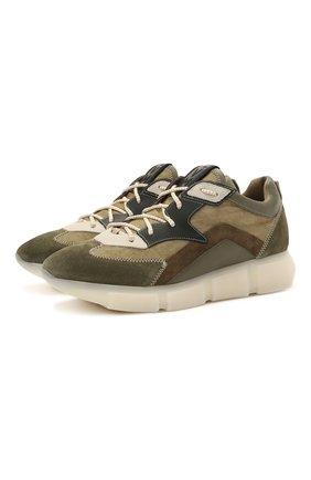 Мужские комбинированные кроссовки VIC MATIE хаки цвета, арт. 1Z5902U.V04TZ6T856 | Фото 1 (Материал внутренний: Текстиль, Натуральная кожа; Подошва: Массивная; Материал внешний: Текстиль; Стили: Гранж)