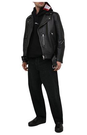 Мужские кожаные слипоны VIC MATIE черного цвета, арт. 1Z5888U.V02X080101 | Фото 2 (Материал внутренний: Натуральная кожа; Стили: Кэжуэл)