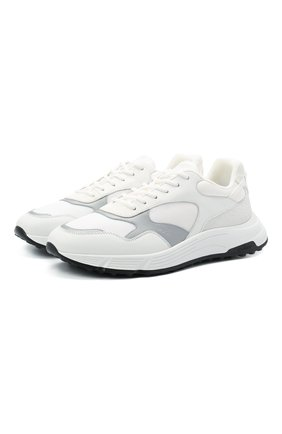 Мужские комбинированные кроссовки HOGAN белого цвета, арт. HXM5630DM90PJY | Фото 1