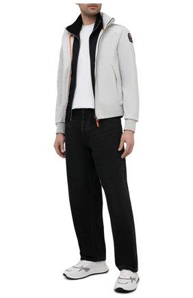 Мужские комбинированные кроссовки HOGAN белого цвета, арт. HXM5630DM90PJY | Фото 2