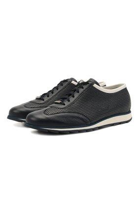 Мужские кожаные кроссовки BARRETT темно-синего цвета, арт. SAW-039.3/CERV0 | Фото 1