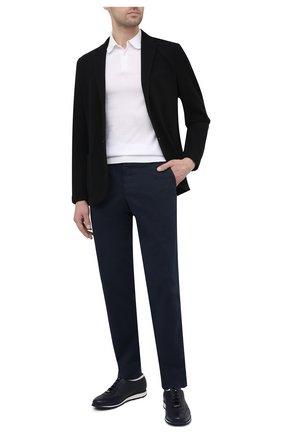 Мужские кожаные кроссовки BARRETT темно-синего цвета, арт. SAW-039.3/CERV0 | Фото 2