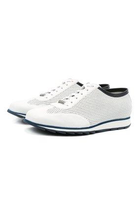 Мужские кожаные кроссовки BARRETT белого цвета, арт. SAW-039.19/CERV0 | Фото 1