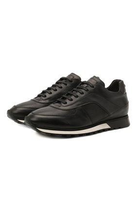 Мужские кожаные кроссовки BARRETT черного цвета, арт. CRAIG-03.20/NAX0S | Фото 1