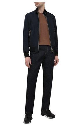 Мужские кожаные кроссовки BARRETT черного цвета, арт. CRAIG-03.20/NAX0S | Фото 2