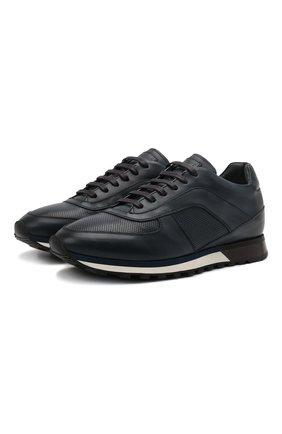 Мужские кожаные кроссовки BARRETT темно-синего цвета, арт. CRAIG-03.18/NAX0S | Фото 1