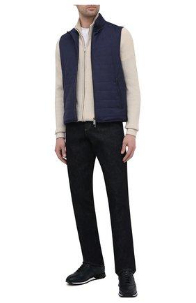 Мужские кожаные кроссовки BARRETT темно-синего цвета, арт. CRAIG-03.18/NAX0S | Фото 2