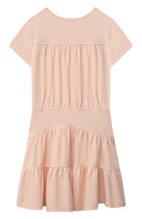 Детское хлопковое платье CHLOÉ светло-розового цвета, арт. C12813 | Фото 2