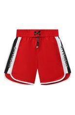 Детские плавки-шорты GIVENCHY красного цвета, арт. H20044 | Фото 1