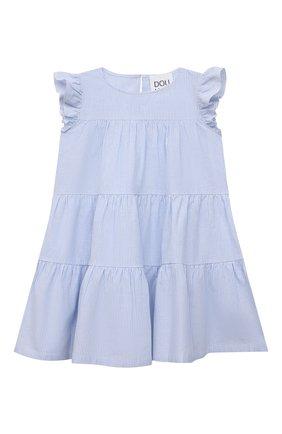 Детское хлопковое платье DOUUOD голубого цвета, арт. 21E/U/JR/AB21/0332/3A-8A | Фото 1