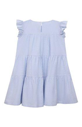 Детское хлопковое платье DOUUOD голубого цвета, арт. 21E/U/JR/AB21/0332/3A-8A | Фото 2
