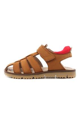 Детские кожаные сандалии JARRETT коричневого цвета, арт. JE2SA11A/NABUCK/24-27 | Фото 2