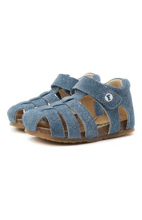 Детские кожаные сандалии FALCOTTO синего цвета, арт. 0011500736/41 | Фото 1