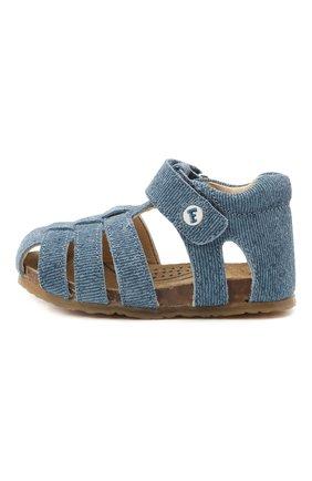 Детские кожаные сандалии FALCOTTO синего цвета, арт. 0011500736/41 | Фото 2