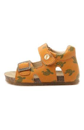 Детские кожаные сандалии FALCOTTO коричневого цвета, арт. 0011500737/38 | Фото 2