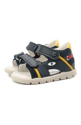 Детские кожаные сандалии FALCOTTO синего цвета, арт. 0011500888/01 | Фото 1