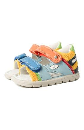 Детские кожаные сандалии FALCOTTO разноцветного цвета, арт. 0011500888/01 | Фото 1