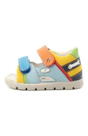 Детские кожаные сандалии FALCOTTO разноцветного цвета, арт. 0011500888/01 | Фото 2
