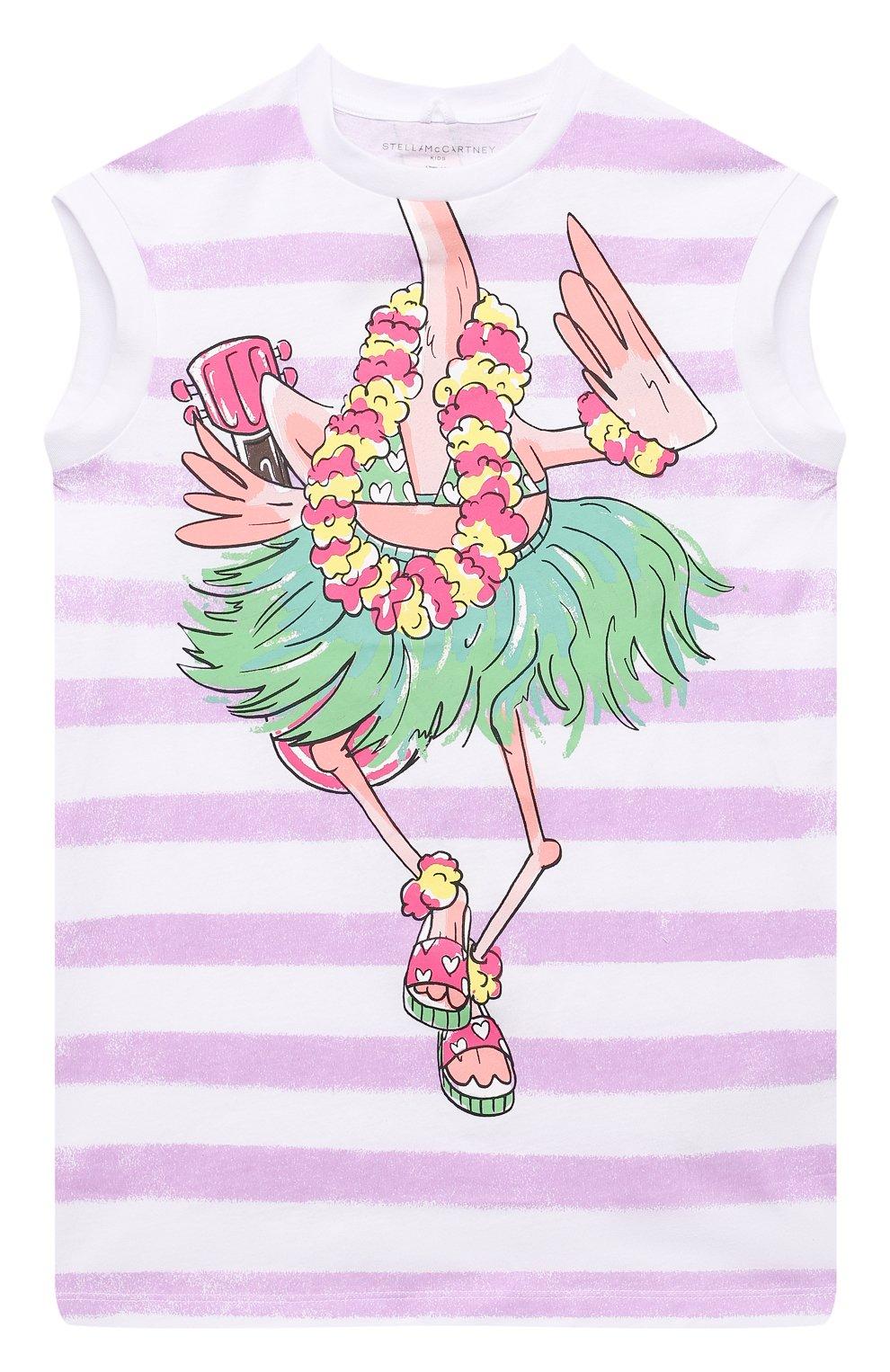 Детское хлопковое платье STELLA MCCARTNEY белого цвета, арт. 602617/SQJA9 | Фото 1