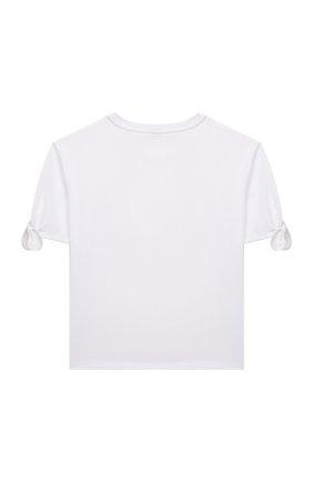 Детская хлопковая футболка MOSCHINO белого цвета, арт. HDM03N/LBA10/4A-8A | Фото 2