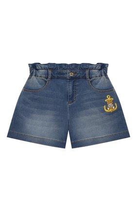 Детские джинсовые шорты MOSCHINO синего цвета, арт. HDQ008/LDE03/10A-14A | Фото 1
