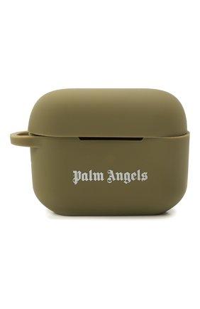 Чехол для airpods pro PALM ANGELS хаки цвета, арт. PMZA004S21PLA0015601 | Фото 1