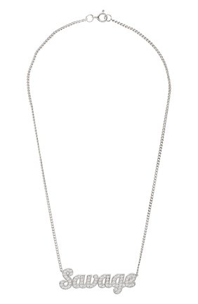 Женская подвеска на цепочке savage LEVASHOVAELAGINA серебряного цвета, арт. savage/n | Фото 1
