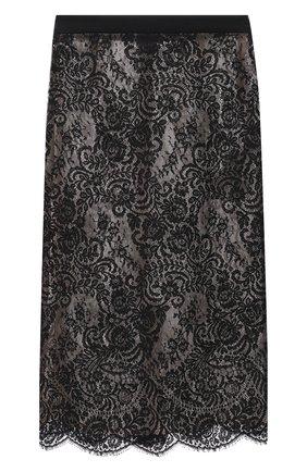 Женская хлопковая юбка ALEXANDER MCQUEEN черного цвета, арт. 650902/QEACI | Фото 1