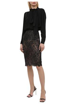 Женская хлопковая юбка ALEXANDER MCQUEEN черного цвета, арт. 650902/QEACI | Фото 2