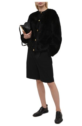 Женская норковая шуба VALENTINO черного цвета, арт. VF3FBM00TDK | Фото 2