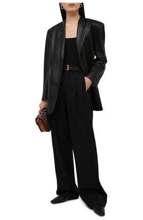 Женское хлопковое боди ATM ANTHONY THOMAS MELILLO черного цвета, арт. AW1268-XA | Фото 2