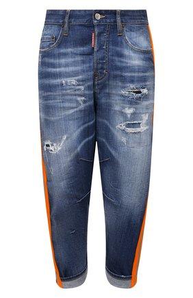 Женские джинсы DSQUARED2 темно-синего цвета, арт. S75LB0506/S30342 | Фото 1