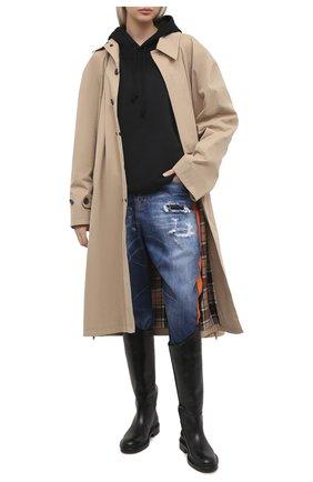 Женские джинсы DSQUARED2 темно-синего цвета, арт. S75LB0506/S30342 | Фото 2