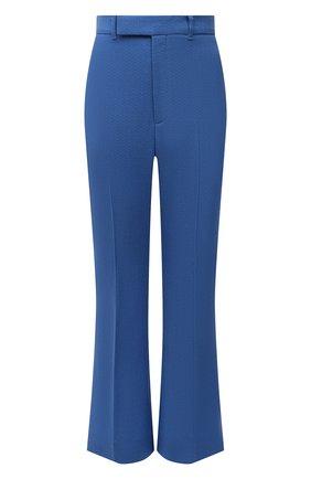 Женские шерстяные брюки GUCCI синего цвета, арт. 616539/ZAF6I | Фото 1