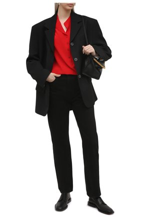 Женская шелковая блузка STELLA MCCARTNEY красного цвета, арт. 531885/SY206 | Фото 2