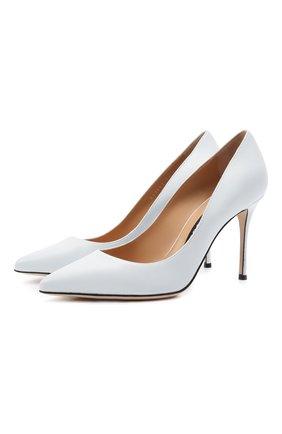 Женские кожаные туфли godiva SERGIO ROSSI белого цвета, арт. A43843-MAGN05 | Фото 1
