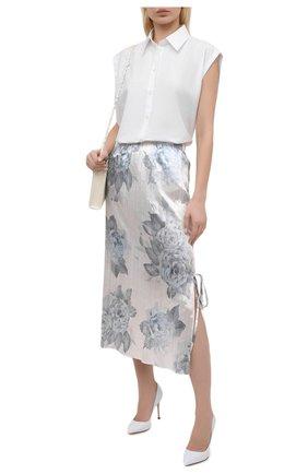 Женские кожаные туфли godiva SERGIO ROSSI белого цвета, арт. A43843-MAGN05 | Фото 2