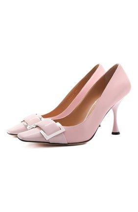 Женские кожаные туфли twenty SERGIO ROSSI светло-розового цвета, арт. A90531-MFN595 | Фото 1
