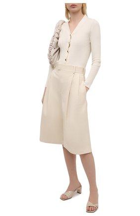 Женские кожаные мюли SERGIO ROSSI бежевого цвета, арт. A91360-MMVS57 | Фото 2