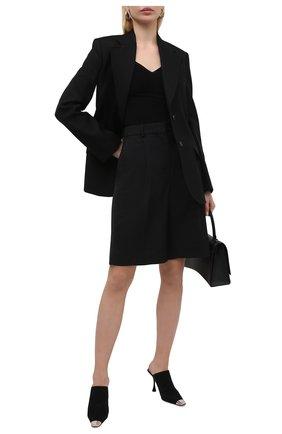 Женские замшевые мюли SERGIO ROSSI черного цвета, арт. A92320-MCAZ01 | Фото 2
