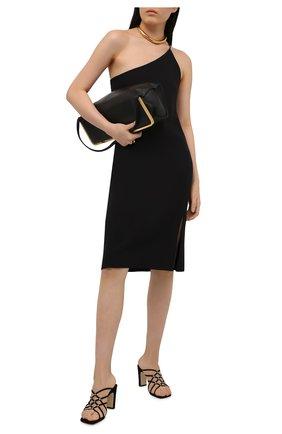 Женские замшевые босоножки grazie SERGIO ROSSI черного цвета, арт. A92400-MCAZ01 | Фото 2