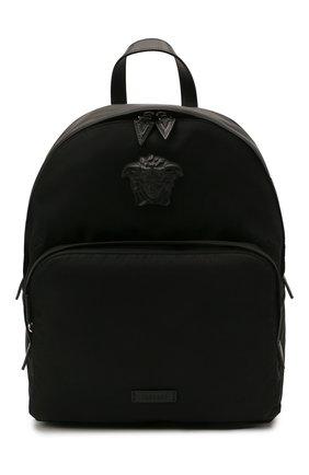 Мужской рюкзак medusa VERSACE черного цвета, арт. DFZ8504/DNY8ME | Фото 1 (Материал: Текстиль)