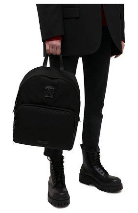 Мужской рюкзак medusa VERSACE черного цвета, арт. DFZ8504/DNY8ME | Фото 2 (Материал: Текстиль)