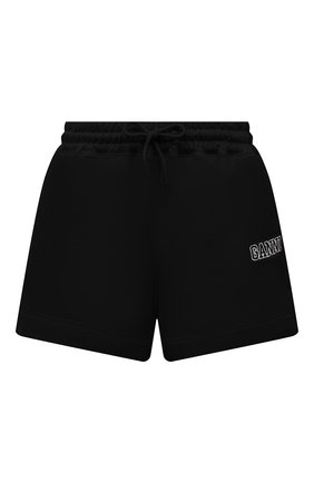 Женские хлопковые шорты GANNI черного цвета, арт. T2924 | Фото 1