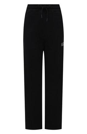Женские хлопковые брюки GANNI черного цвета, арт. T2926 | Фото 1