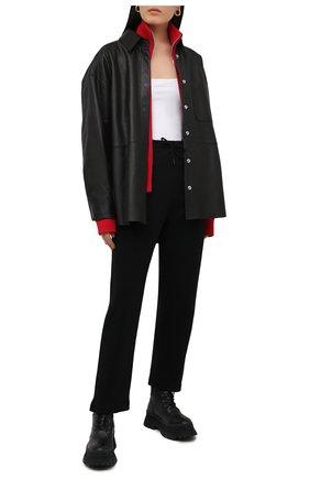 Женские хлопковые брюки GANNI черного цвета, арт. T2926 | Фото 2