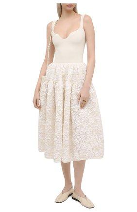 Женская юбка CECILIE BAHNSEN белого цвета, арт. SC21-0054 | Фото 2