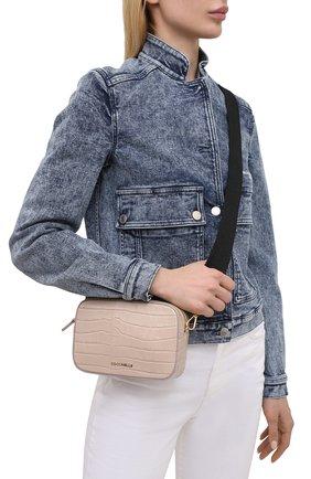 Женская сумка tebe croco COCCINELLE бежевого цвета, арт. E5 HV3 55 I1 06   Фото 2
