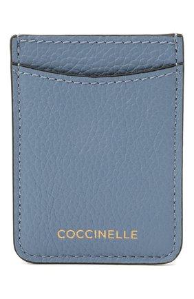 Женский кожаный футляр для кредитных карт COCCINELLE голубого цвета, арт. E2 HZ4 42 A0 01   Фото 1